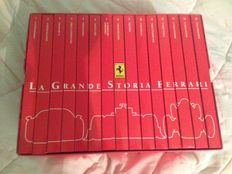 Lot of 15 Ferrari DVDs, Italian language - La Grande Storia Ferrari + Ferrari Collection F1 book with M. Schumacher's Ferrari F2002 model car