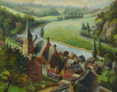 Theo Groeneveld (1897-1969) - Dorp aan de Ourthe