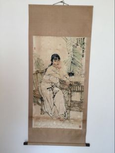 Decorational scroll made after He Jiaying - China - 2nd half 20th century