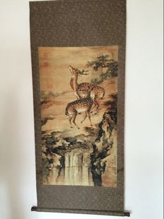Decorational scroll, reproduction of old painting - China - second half 20th century