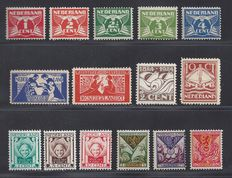 The Netherlands 1923/1924 – five complete issues – NVPH 134/135, 139/140, 141/143, 144/148, 166/168.