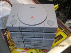 5 complete PS1 consoles(all the cables are included) incl 20 real good ps1 games.