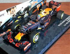 Minichamps - Scale 1/43 - Red Bull RB 12 GP Spain 2016 with cap - Max Verstappen