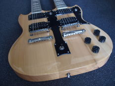 New double neck naturel SG model with 12 and 6 strings with bag and cable