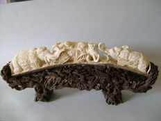 A sculpture in mammoth ivory (43.5cm) - China - around 1950