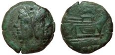 Roman Republic - Anonymous, Dolphin series - AE As (28,5mm; 17,52g) - Rome mint, 179-170 BC - Head Janus / Prow of galley - Cr. 160/1