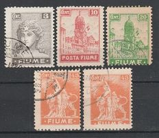 Italy – Fiume, 1918-1923 – Selection of stamps