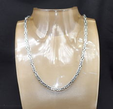 925 / 1000 silver - total weight 62 g - chain size  50 x 0.7 cm