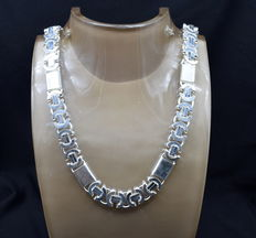 925 / 1000 silver total weight  237g  - chain size  60 x 1.8 cm