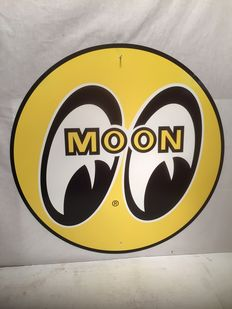 Moon Eyes - speed equipment & auto parts - Heavy metal sign - diameter 71 cm - USA - 1990-2010