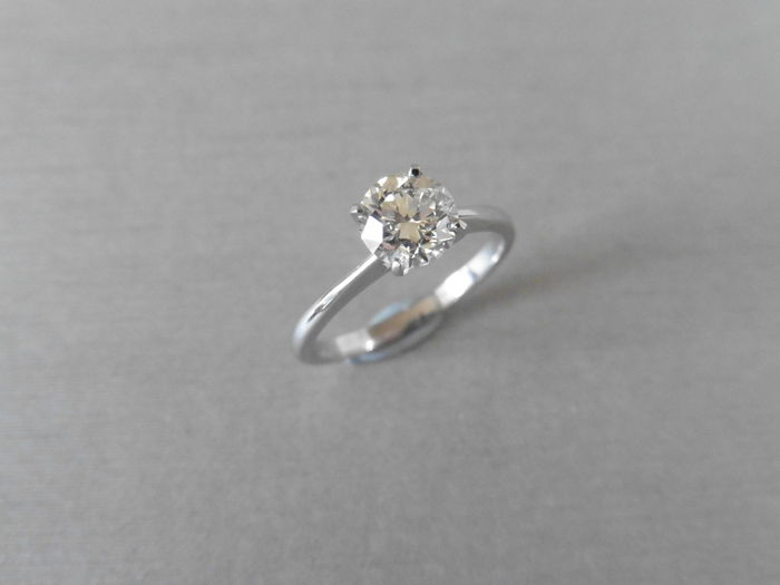 950 Platinum Solitaire Diamond Ring – 0.50ct I VS1 - size 52