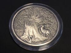 USA – 5 Troy Ounce 2016 'Nordic Creatures / Dragon Nidhoggr' with box & certificate - 5 oz silver