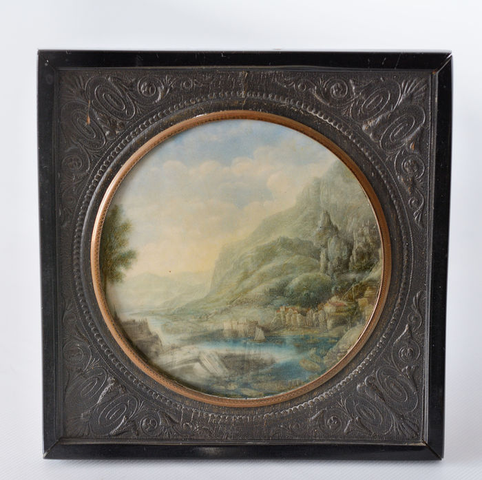 Landscape, miniature on ivory - Europe - 18th / 19th century