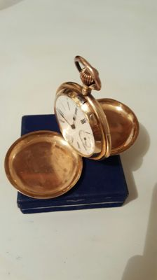 Hunter-case pocket watch, 19th Century