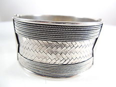 Ladies bracelet - metal- silver 925/1000 - Diameter 6 cm