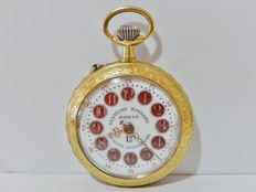 Antique ROSKOPF pocket watch from the early 1900s – CARTOUCHE dial with ENGRAVED CASING.
