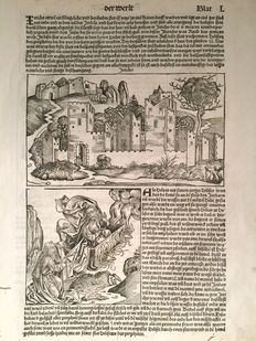 Print from Hartmann Sheet Weltchronik - 1493