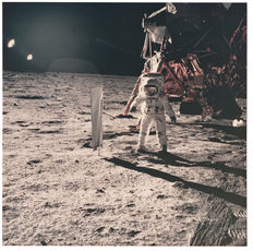 NASA - Apollo 11 - Buzz Aldrin extravehicular activity (EVA) on the lunar surface - 1969