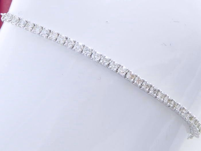 Bracelet set with 30 brilliant cut diamonds, 1.00 ct in total - 18.50 cm *** no reserve price ***