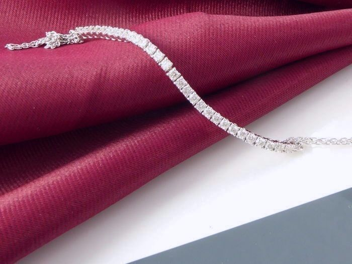 Bracelet set with 30 brilliant cut diamonds of 1.00 ct in total - 18.50 ct *** no reserve price ***