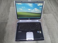 HP Pavilion ZX5000 vintage notebook - Intel Pentium 4 2.66Ghz CPU, 512MB RAM, 60GB HDD, DVD writer, Windows XP - with charger