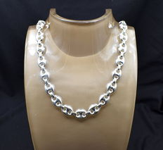 925 / 1000 silver total weight 69 g - chain size  60 x 1 cm