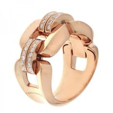 "Chimento – ""Febo"" ring, rose gold with diamonds – Ring size: (54) 17.2"