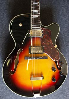 New Volcano Hollow Body in Vintage Sunburst, also for Rockabilly, Jazz, Blues, Rock etc.