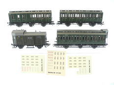 "Märklin H0 – 4202/-03/e.a. -  4-piece passenger train ""compartment carriage"" of the DRG [733]"