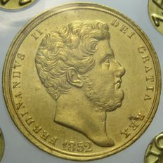 Kingdom of the Two Sicilies, 6 Ducats, 1852, Ferdinand II, gold