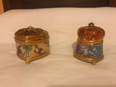 Franklin Mint : Imperial porcelain music boxes, half of 20th century