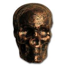 USA - MK Barz - 3 AVDP oz 999 Fine Copper Skull Bullion - Hand-Cast Unique Piece