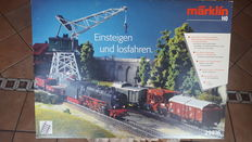 Märklin H0 - 29816 - initial set with BR41 locomotive + 5 carriages of DB, with electric crane and K tracks