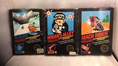 3 boxed Nes Black label games. Boxed.