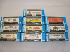 Märklin H0 - 10x Refrigerated beer vans, various limited edition liveries (Lot 15)