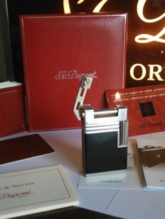 S.T DUPONT lighter URBAN line - Chinese black lacquer and Palladium