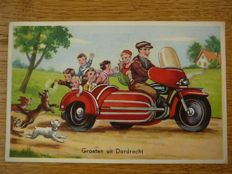 """Lot with 180 postcards of Dutch towns with names starting with the letter """"D"""" or """"E"""""""