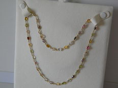18 kt yellow gold necklace with tourmaline – 48 cm