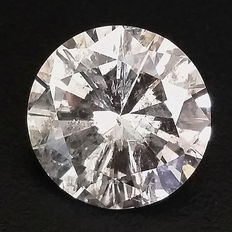 5.18 ct Round brilliant cut diamond   G color  SI2 clarity