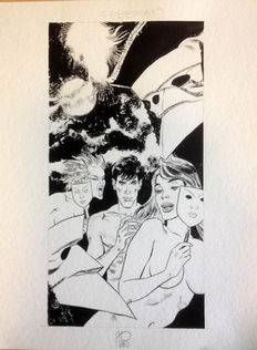 "Stano, Angelo - original illustration Dylan Dog ""Calendario Max"""