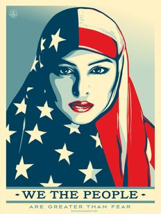 Shepard Fairey (OBEY) - We The People - Are Greater Than Fear