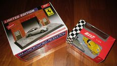 Best Model  - Scala 1/43 - Lot with 2 Special Dioramas: Ferrari 250LM 2° Le Mans 1965 &  Ferrari 250GT Lusso with Enzo Ferrari at the Factory