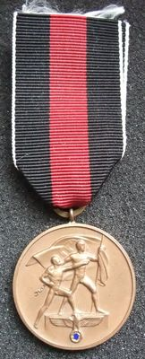 Germany Medal commemorating the 1st of October 1938