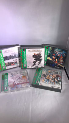 5  sealed PS1 RPG games. chrono trigger, final fantasy and more.