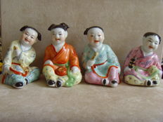 Lot of four children with music instruments - China - Kuomintang - Kwomintang - 2n half 20th century