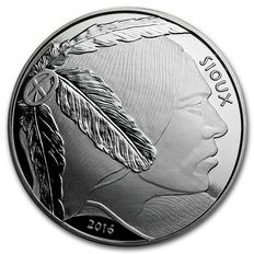 United States - $1 - 1 oz silver coin - silver medallion - Sioux Indian Warrior - reserve proof 2016