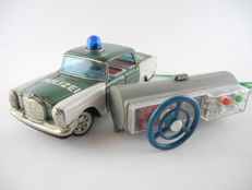 SKK, Japan - 70s - 200 SL Mercedes police car with cable remote control, battery operated