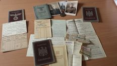 WW II - Lot Wehrpass & Photos & Medal - Atbeisbuchen & Documents