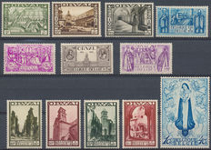 Belgium – 1933 – Large Orval OBP 363/374