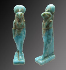 Egyptian faience amulet of Horus - 23 mm